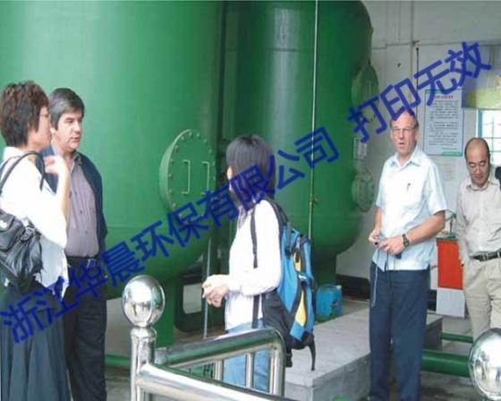 国外客户考察一体化净水设备